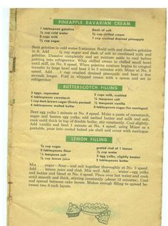 Grandma's recipes she saved Grandma's Recipes, Retro Recipes, Vintage Recipes, C… – Famous Last Words Retro Recipes, Old Recipes, Cookbook Recipes, Vintage Recipes, Baking Recipes, Sweet Recipes, Cookie Recipes, Dessert Recipes, Desserts