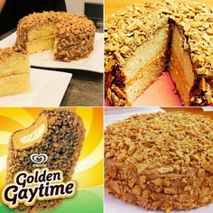 Golden Gaytime Cake This would be a great summer time cake to make. Sweet Recipes, Cake Recipes, Dessert Recipes, Icing Recipes, Delicious Desserts, Cooking Ice Cream, Fruit Chews, Barbie, Chocolate Butter
