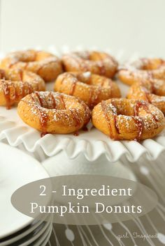 Two Ingredient Pumpkin Donuts - so easy, so yummy!