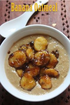 YUMMY TUMMY: Breakfast Banana Oatmeal Recipe - Caramelized Banana Oats Recipe