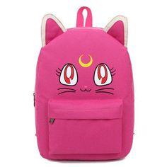 Korean trendy fashion Sailormoon Sailor moon Luna Purple bag school backpack cute kawaii cosplay