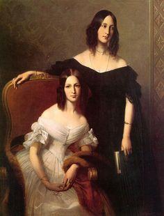 1840 - Zwei Schwestern von Édouard-Louis Dubufe
