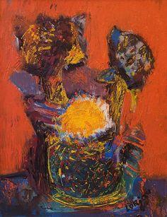 Bernard Lorjou Still Life Painting with Flowers in a Vase Flower Vases, Flowers, Irish Art, Still Life, Sculptures, Art Gallery, Artist, Painting, Art Museum