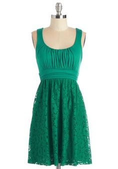 Artisan Iced Tea Dress in Mojito. This sleeveless, scoop-neck dress reminds us of a sweet, mint-infused iced tea! #green #modcloth