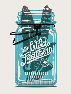 The Wild Feathers Gig Poster by Tron Burgundy