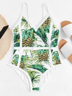Shop Pineapple Print One Piece Swimsuit online. SHEIN offers Pineapple Print One Piece Swimsuit & more to fit your fashionable needs. Monokini, One Piece Swimwear, One Piece Swimsuit, Georgia, Bikinis, Swimsuits, Fruit Print, Pineapple Print, Bra Types