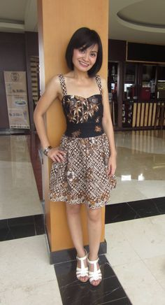 batik dress designed by me
