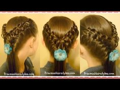 Hairstyles For Girls - Hair Styles - Braiding - Princess Hairstyles - Hook and Ladder Braid
