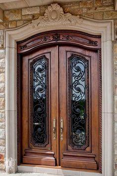 Traditional Front Door with Glass panel door