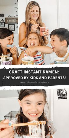 Looking for new, exciting meals to share with your kids? Ramen is a great family meal option. Mike's Mighty Good craft ramen is easy to make and customize, and the ingredients make a perfect ramen for kids. Ramen has grown up with you, and Mike's Mighty Good is pioneering craft instant ramen for a new generation. The best part is that now your kids can enjoy it too! #ramen #familymeals Healthy Ramen, Vegetarian Ramen, Ramen Noodle Recipes, Ramen Noodles, Mike Craft, Pioneer Crafts, Homemade Ramen, Instant Ramen, Eat Together