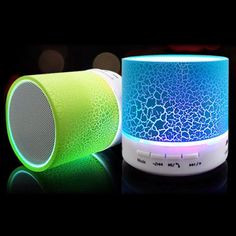 LED Mini Wireless Bluetooth Speaker TF USB Portable Musical Subwoofer Loudspeakers For phone PC with Mic Usb, Bluetooth Speaker Price, Portable Speakers, Smartphone, Loudspeaker, Audio, Musical, Android, Colorful