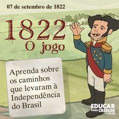 1822 - O caminho da Independência do Brasil Entenda neste especial desenvolvido por Laurentino Gomes os fatos que desencadearam a Independência brasileira. Acesse o link abaixo e aprenda mais sobre a Independência do Brasil brincando. http://educarparacrescer.abril.com.br/1822/?utm_source=redesabril_educar&utm_medium=facebook&utm_campaign=redesabril_educar #independenciadobrasil #educaçao #laurentinogomes #filhos #familia Beijinhos à todos