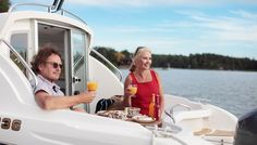 With the Yamarin 68 Cabin, you can begin the boating season right after the thaw and continue until the water freezes, travelling comfortably inside the cabin. Boater, Power Boats, Ds, Cabin, Motor Boats, Cottage, Cabins, Wooden Houses, Cottages
