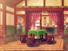 Pampered Genius Consort: PGC is getting a visual novel! China Architecture, Futuristic Architecture, Beautiful Architecture, Architecture Office, Episode Interactive Backgrounds, Episode Backgrounds, Chinese Background, Anime Places, Chinese Interior