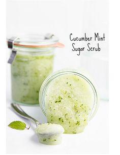 Cucumber mint sugar scrub #Various #Trusper #Tip