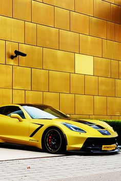 2014 #SuperCar yellow #Chevrolet #Corvette #C7 #Stingray - Excuse the drool.