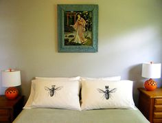 @Michelle Travers  You so need these!   His and Hers Set of Standard/Queen Size Pillow by VIVASWEETLOVE, $29.00