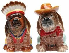 Appletree Indian Dog Salt and Pepper Shaker Set by Appletree Design inc. $16.49. Dolomite material. 2 piece set salt and pepper. Hand wash to insure longevity. Enjoy this unique Native American Salt and Pepper Shaker, perfect in your kitchen or as a gift for someone special. Comes gift boxed.