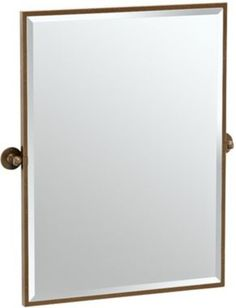 28.25 x 33 Gatco Cafe Bronze Contemporary Rectangle Vanity Mirror