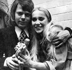 """Björn Agnetha champagne congrats to """"Jesus Christ Superstar"""" February 1972."""