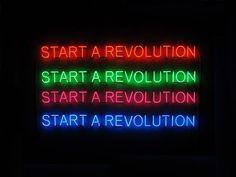 Start a revolution, Tim Etchells