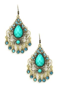 Pretty pair of Green Dangle Earrings by Eye Candy Los Angeles on @HauteLook