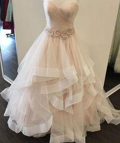 Elegant Prom Dress,Long Prom Dress,Tulle Prom Dresses ,A