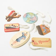 Travel Gift Tags by Cavallini & Co.