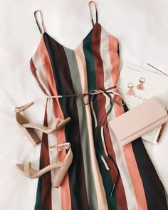 Outfits - lovelulus ✨ shop link in bio! Mode Outfits, Trendy Outfits, Dress Outfits, Summer Outfits, Fashion Outfits, Womens Fashion, Striped Summer Dresses, Kimono Outfit, Hipster Outfits