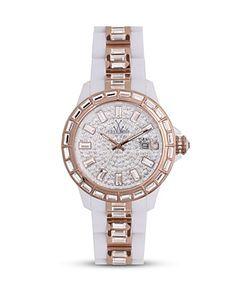 Toy Watch White Gem 'Plasteramic' Watch $450... Love the toy watches!!!