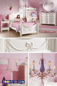 Encourage fairy tale dreams by tucking your little girl into the enchanting Princess sleigh bed. Crafted with a white finish, the bed offers intricate detailing.