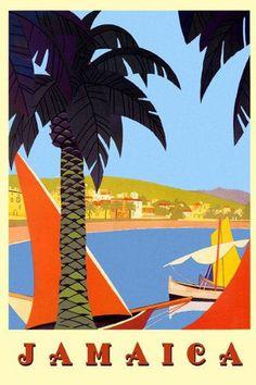 Jamaica Vintage Poster Love #Sailing? #BluefieldsBay offers the perfect, crystal clear seas. Visit us at www.lunaseainn.com