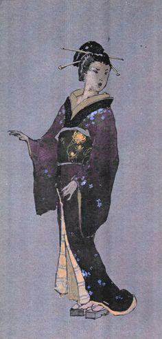 Costume sketch for Cio-Cio San. Madama Butterfly. Première  Febraury 7, 1904 at Teatro alla Scala, Milan.