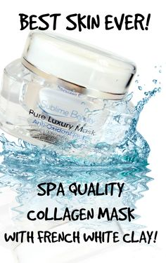 BEST SKIN EVER!  The Secret of a Collagen Mask!  http://sublimebeautyshop.com/blogs/news/17859200-best-skin-ever