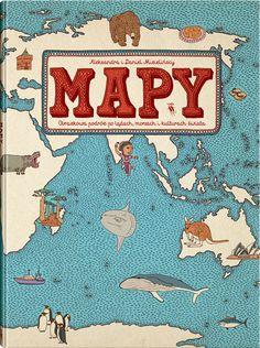 """Book """"The Maps"""" / text and ilustriations: Aleksandra i Daniel Mizielińscy/ Publisher: Wydawnictwo Dwie Siostry / www.wydawnictwodwiesiostry.pl"""