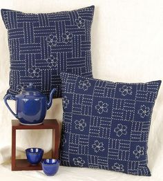 sashiko cushions by Alderspring Design, via Flickr | Riscos