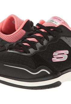 9f39c768fdf from zappos.com · SKECHERS Burst TR (Black Pink) Women s Shoes - SKECHERS