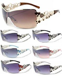 DG Women Ladies Girls Fashion Sunglasses Retro Bubble Oversized Shield