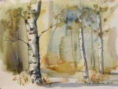 Kuvahaun tulos haulle metsä akvarelli