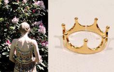 D-Lirio anillo corona ajustable. Bañado en oro también disponible en plata. Made in Barcelona. http://www.d-lirio.com/