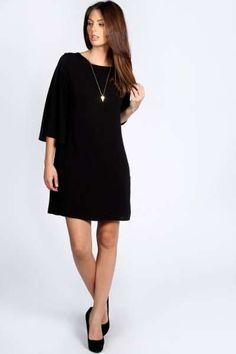 Amy Kimono Sleeve Shift Dress at boohoo.com