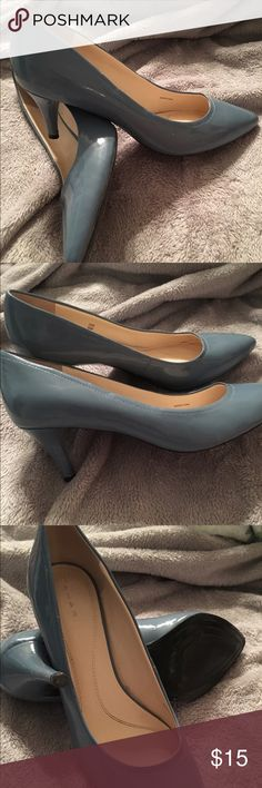 Blue Tahari leather shoes Tahari 9 1/2 French blue leather shoes ( worn once) Tahari Shoes Heels