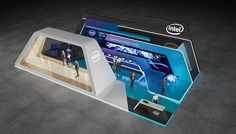 "Exhibition stand ""INTEL""Design by ""GM design group""designer Nazar Malets"