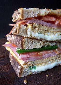 exPress-o: The SFPH: Ham, Mozzarella, Egg Omelette and Lemon Curd Sandwich