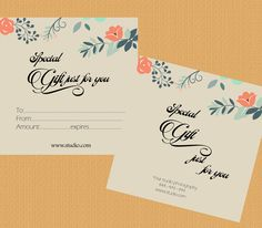 Gift Certificate Template by appbebe on Creative Market