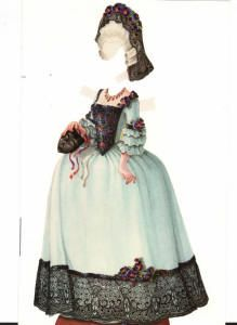 This is a 18th Century Lady of Fashion by Helen Page and Gene Maiden, 1993.