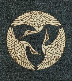 水引家紋画像 三羽鶴紋