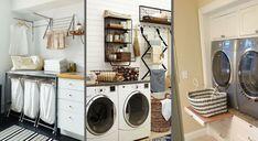 Linge propre, linge sale, lessive et autres produits d'entretien... Pas toujours facile de s'y retrouver dans la buanderie. Voici 20 conseils malins pour l'organiser ! Stacked Washer Dryer, Washer And Dryer, Laundry, Home Appliances, Deco, Voici, Organization, Laundry Detergent, Home
