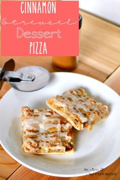 Cinnamon Streusel Dessert Pizza l The Princess & Her Cowboys