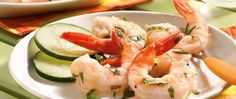 A lemony herb marinade transforms cooked shrimp into extraordinary seafood.